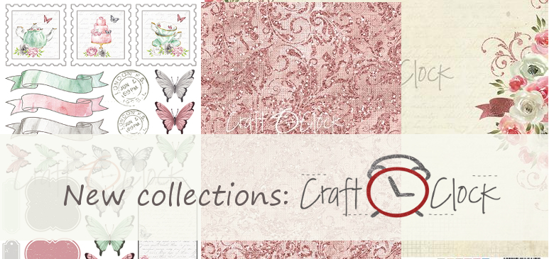 4 new beautiful CraftO'Clock collections!