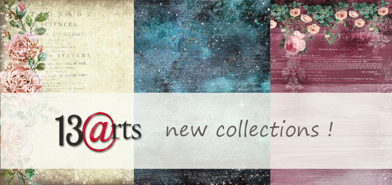 4 new 13@rts collections with stamps and stencils!