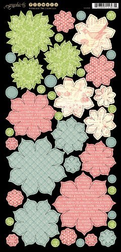 Botanical Tea Flowers 6xX12 Die Cut Banners (2 sheets per pack) (clr 70)