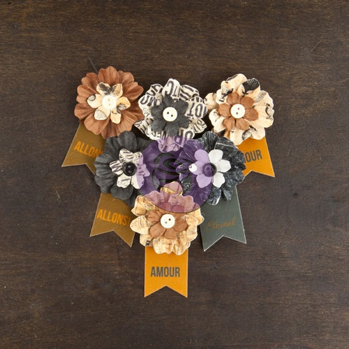 Cartographer Stunning Paper Flowers – Explorer (6 pieces per pack + Banner) (clr 70)