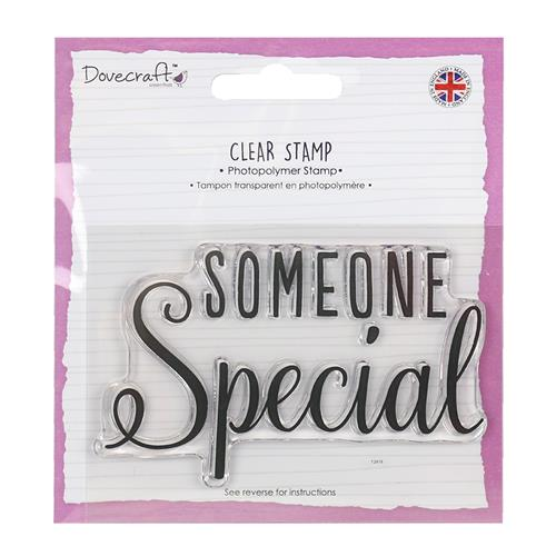 Dovecraft A7 (7.4x10.5cm) Photopolymer Clear Stamp - Someone Special (clr 50)