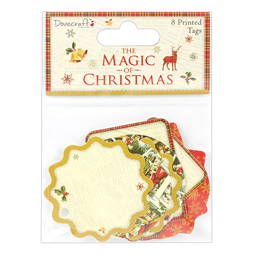 Dovecraft The Magic of Christmas Printed Tags (8 pcs)(clr 50)