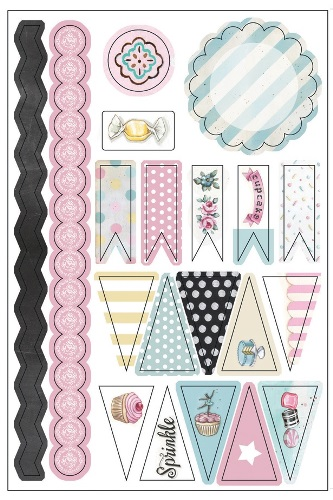 the Sweet Life, Washi Banners, Stickers (clr 70)