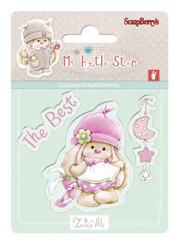 Bunny My Little Star - Set of stamps (7*7cm) - Best Bunny (clr 30)