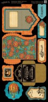Steampunk Spells Die Cut Banners Tags & Pockets (2 6X12 Sheets)