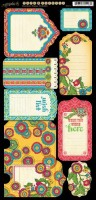 Bohemian Bazaar Die Cut Banners Tags & Pockets (2 6X12 Sheets)