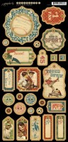 Good Ol' Sport 1 6X12 Chipboard Die Cut Elements (1 sheet per pack) (clr 90)