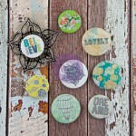 Free Spirit – Flair Buttons (8 pieces per pack inc clear Stamp) (clr 80)