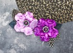 Plume Orchid Fabric Paper Flowers (2 pieces per pack) (clr 80)