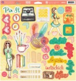 Bloom Chipboard Stickers (46 pieces per sheet) (clr 80)