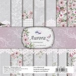 Paper Collection Set 20,3x20,3cm Aurora 250 gsm (14 double-sided sheets, 14 designs, 2 unit of eeach sheet, additional bonus design inside the cover)