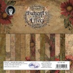 Paper Collection Set 20cm*20cm Butterfly Effect 250 gsm (14 sheets, 14 designs, 2x7 double-sided sheets, bonus design)