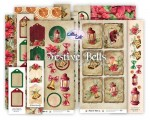Ephemera set Festive Bells remastered (4 sheets 30x5cm & 2 sheets 30x15 cm & 2 sheets 5x15 cm )