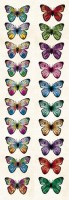 Double-sided paper 30,5x5cm 240 gsm, Sunrise - Rainbow Butterflies (1 sheet)
