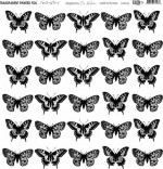 Transparent foil Alice in Candyland - Butterflies by Olga Heldwein 30x30x0,25 cm, matte black print , (1 sheet)