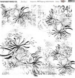 Transparent foil Aqua Flora Numbers by Aida Domisiewicz 30x30x0,25 cm, matte black print , (1 sheet)