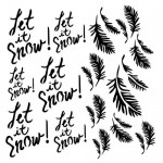 Stencil Let it snow - Dreamland, 15x15 cm thickness 1 mm
