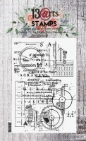 Set of polymer stamps A6 - Blueprint - Grungy Walls by Olga Heldwein