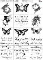 Stickers His&Hers Eng , by Olga Heldwein, A4, matte transparent film, matte black print , (1 sheet)