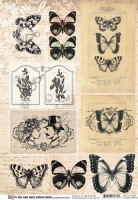 Paper elements His&Hers Remastered, Butterflies by Olga Heldwein, A4, 200 gsm (1 sheet)