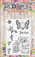 Set of polymer stamps A6 - Time flies - His&Hers 2 by Olga Heldwein