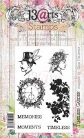 Set of polymer stamps A6 - Timeless Garden - His&Hers 2 by Olga Heldwein