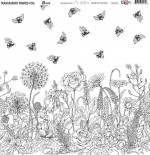 Transparent foil Bees, In Bloom by Olga Heldwein 30x30x0,25 cm, matte black print , (1 sheet)