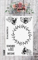 Set of polymer stamps A7 - Bees - In Bloom by Olga Heldwein