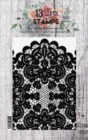 Set of polymer stamps A7 - Lace - In Bloom by Olga Heldwein (clr 15)