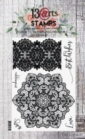 Set of polymer stamps A6 - Crocheted - In Bloom by Olga Heldwein (clr 15)