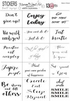 Stickers Small Sayings ENG by Marta Lapkowska (Maremi), A5, matte transparent film, matte black print , (1 sheet) (clr 30)