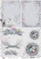 Paper A4 Nests, On the wall by Olga Heldwein, 200 gsm (1 sheet)