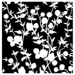 Stencil Flourish - In Bloom, 15x15 cm thickness 1 mm (clr 30)