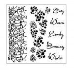 Stencil Branch&Text - Cosy Evening, 15x15 cm thickness 1 mm, by Aida Domisiewicz (clr 50)