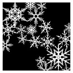 Stencil It's snowing - Christmas Traditions, 15x15 cm thickness 1 mm, by Olga Heldwein