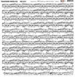 Transparent foil Melody, Summer Rhapsody by Aida Domisiewicz 30x30x0,25 cm, matte black print , (1 sheet)