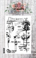 Set of polymer stamps A7 - Nature - Summer Rhapsody by Aida Domisiewicz