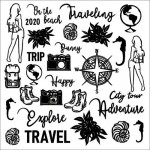 Chipboard Travel the World, 30x30 cm, Beermat 1,5mm
