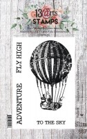 Set of polymer stamps A7 - Balloon - Under the Stars by Aida Domisiewicz