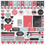 Cupids Arrow 12x12 Sticker Sheet (clr 70)