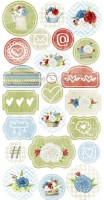 Die-cuts Home Sweet Home, 22 pcs, paper 250 gsm, cut-out