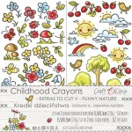 Paper Collection Set 15,5x30,5cm Childhood Crayons - Funny Nature - extras to cut V, 250 gsm (2 one-sided sheets, 2 designs)