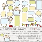 Paper Collection Set 15,5x30,5cm Childhood Crayons - Funny Frames - extras to cut VII, 250 gsm (2 one-sided sheets, 2 designs)