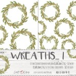 Premium Paper Collection Set 15,5x30,5cm Wreaths I - Extras to cut, gold glitter, 250 gsm (2 one-sided sheets, 2 designs)