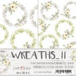 Premium Paper Collection Set 15,5x30,5cm Wreaths II - Extras to cut, gold glitter, 250 gsm (2 one-sided sheets, 2 designs)