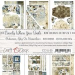 Junk Journal Set Lovely When You Smile, 15,5x30,5cm (6 one and double sided sheets, 250g/190g)