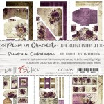Junk Journal Set Plum In Chocolate, 15,5x30,5cm (6 one and double sided sheets, 250g/190g)