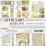 Junk Journal Set Summer Charm, 15,5x30,5cm (6 one and double sided sheets, 250g/190g)