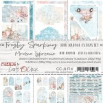 Junk Journal Set Frosty Sparking, 15,5x30,5cm (6 one and double sided sheets, 250g/190g)