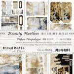 Junk Journal Set Beauty Restless, Mixed Media, 15,5x30,5cm (7 one and double sided sheets, 250g/190g, inscriptions - 1 sheet ENG/PL)